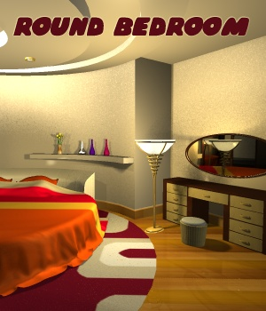 Round bedroom - Extended License 3D Models Extended Licenses greenpots