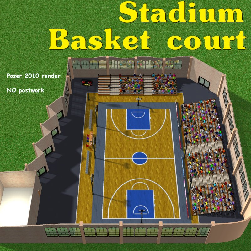 Stadium Basketball court - Extended License