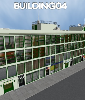 Building04 - Extended License 3D Models Gaming\Extended Licenses greenpots
