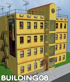 Building08 - Extended License 3D Models Gaming greenpots
