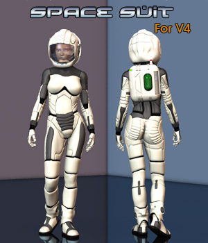 Space Suit for V4 3D Figure Essentials Simon-3D