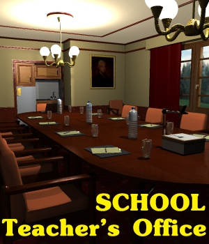 School Teacher's office - Extended License Gaming\Extended Licenses 3D Models greenpots