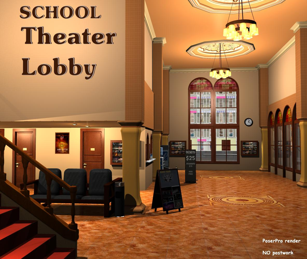 SCHOOL Theater Lobby - Extended License