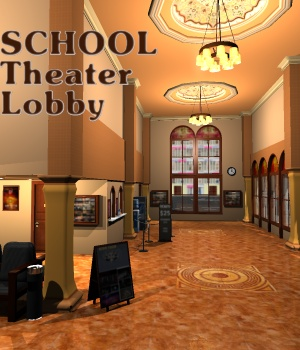 SCHOOL Theater Lobby - Extended License 3D Models Gaming greenpots