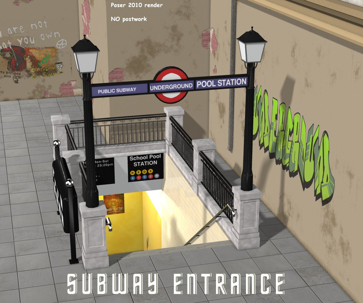 Subway Entrance - Extended License