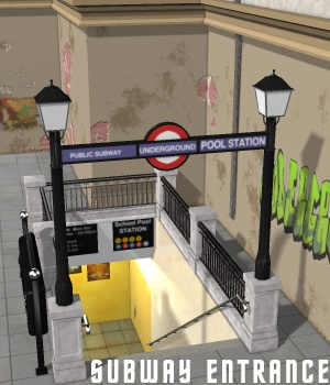 Subway Entrance - Extended License 3D Models Gaming greenpots