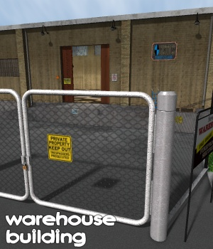 Warehouse building - Extended License 3D Models Gaming greenpots