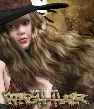 Witch Hair 3D Figure Assets Pretty3D