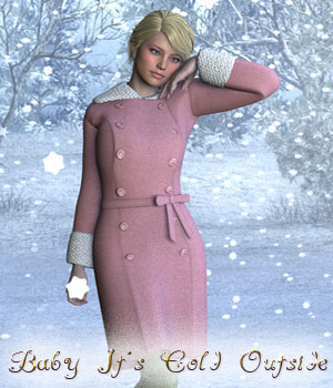 Baby Its Cold Outside for Genesis 2 Female 3D Figure Essentials Lyrra