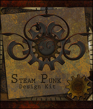 SteamPunk Design Kit 2D Graphics Merchant Resources antje