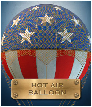 Hot Air Balloon 3D Models SkyCaptain3D