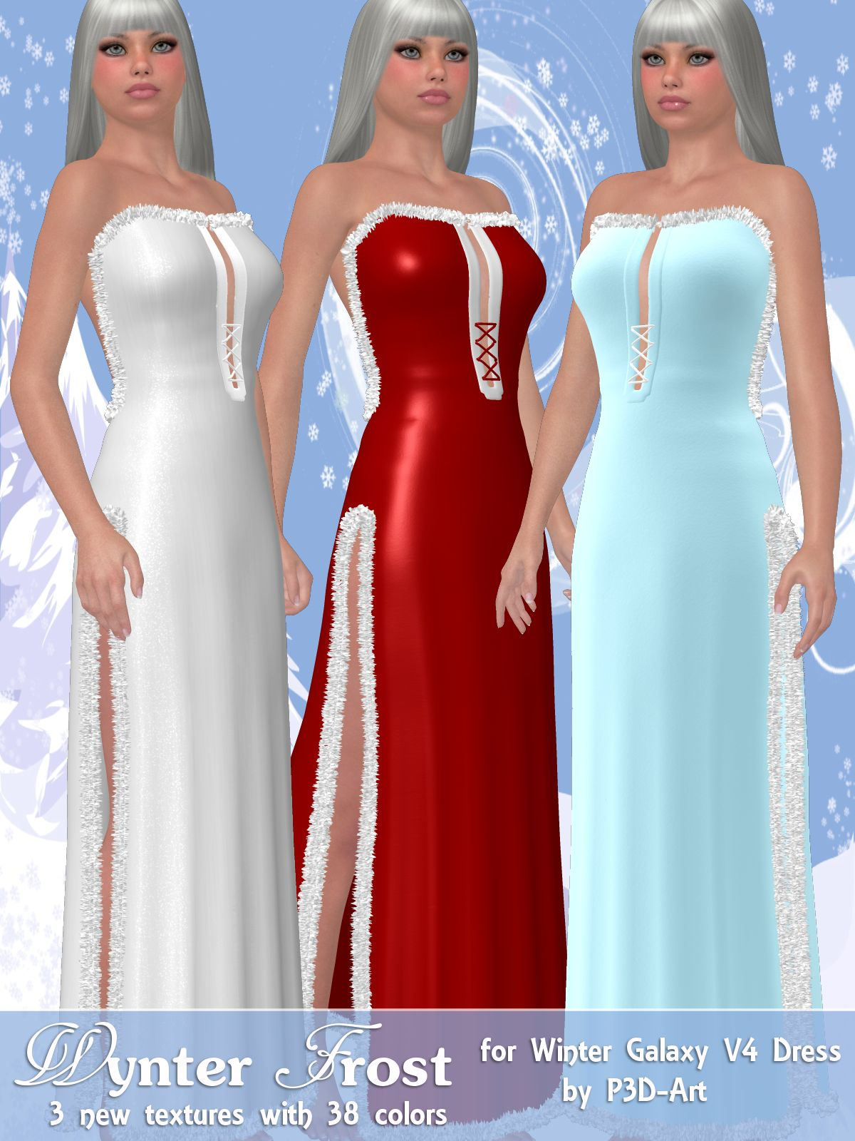 Wynter Frost for Winter Galaxy V4 Dress by ANG3L_R3D