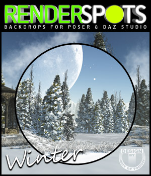 RenderSpots Winter for Poser and DAZ Studio 2D 3D Models outoftouch