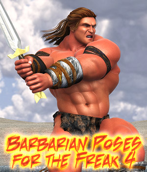 Barbarian Poses for the Freak 4 3D Figure Assets LuckyStallion