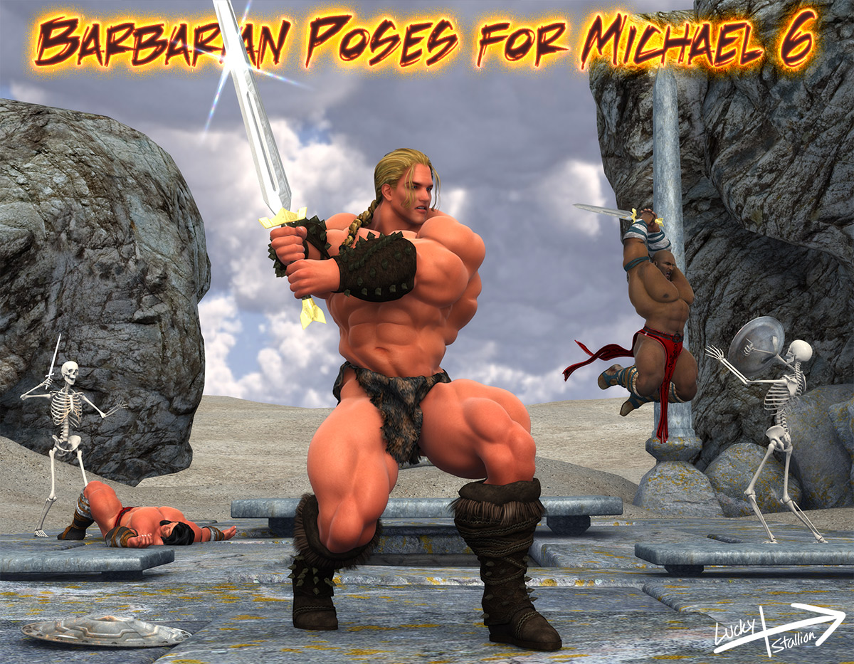 Barbarian Poses for Michael 6byLuckyStallion()