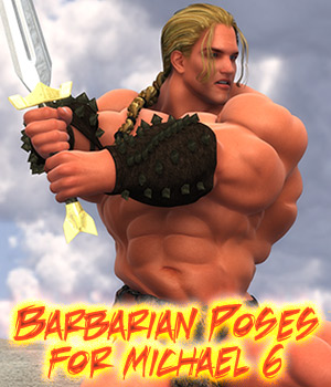 Barbarian Poses for Michael 6 3D Figure Essentials LuckyStallion