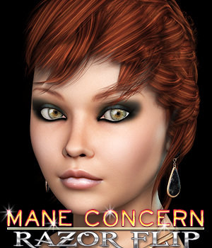 Mane Concern: Razor Flip Hair 3D Figure Essentials 3DSublimeProductions