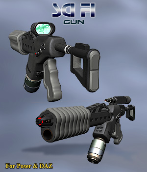 Sci Fi Gun - Extended License 3D Models Simon-3D