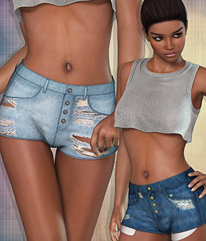Cropped for Shorts I 3D Figure Essentials Atenais