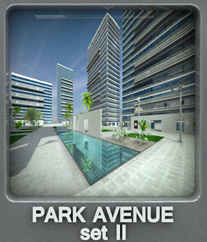 Park Avenue set II 3D Models whitemagus