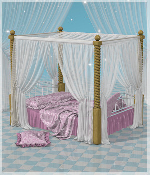 Drapery - The Bed 3D Models Lully