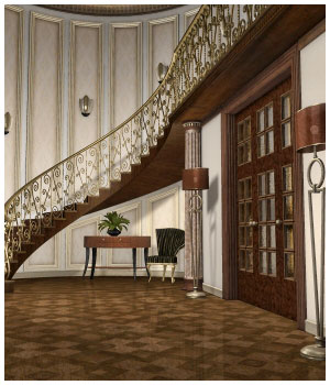 Grand Foyer Corner 3D Models GrayCloudDesign