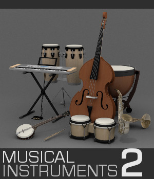 Musical Instruments 2 3D Models TruForm