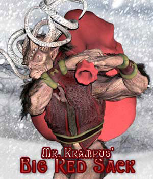 Mr. Krampus' Big Red Sack 3D Models 3D Figure Essentials sixus1