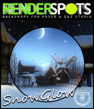 RenderSpots SnowGlow for Poser and DAZ Studio 2D 3D Models outoftouch