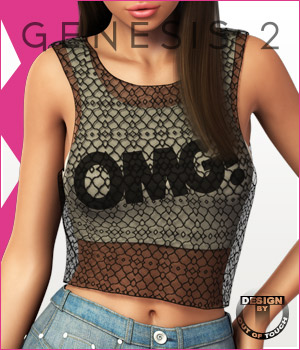 Fashion Blizz - Layered Tanktop for Genesis 2 Female(s) 3D Figure Essentials outoftouch