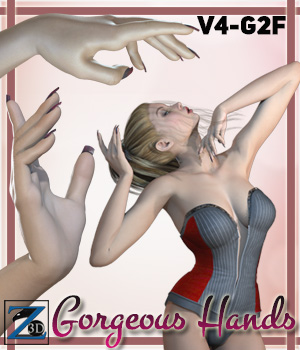 Z Gorgeous Hands - V4-G2F 3D Figure Essentials Zeddicuss