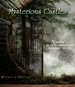 Mysterious Castles Backgrounds 2D ellearden