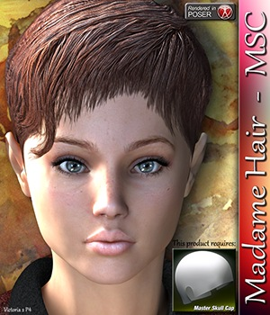 Madame Hair - MSC 3D Figure Essentials 3Dream