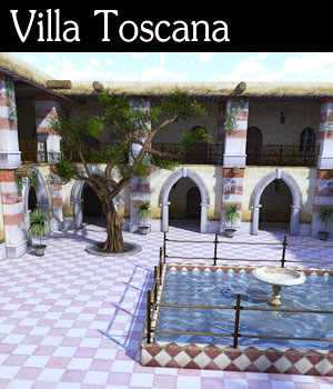 Villa Toscana 3D Models dexsoft-games