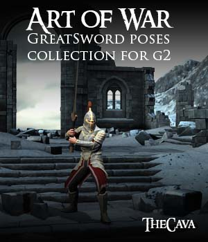 Art of War - The Ultimate GreatSword Poses for Genesis2 3D Figure Assets TheCava