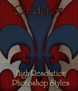 Corduroy Photoshop Styles 2D Merchant Resources antje