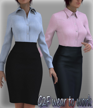 G2F wear to work 3D Figure Essentials kang1hyun