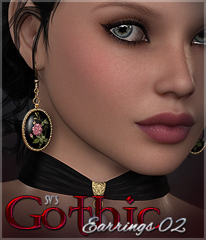 SV's Gothic Earrings 02 3D Figure Essentials Sveva