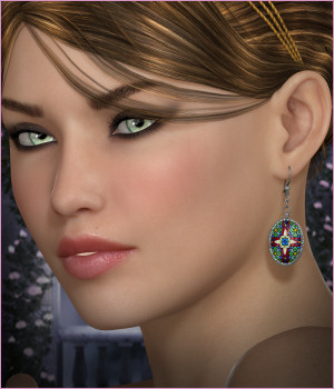 Dazzle for Gothic Earrings 02 3D Figure Assets -Wolfie-