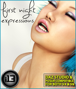 i13 First NIGHT expressions for V4-G2F/V6 3D Figure Essentials ironman13