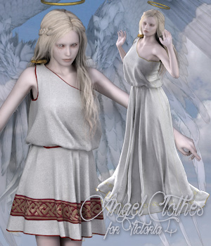 Angel Clothes for V4 3D Models 3D Figure Essentials Tipol