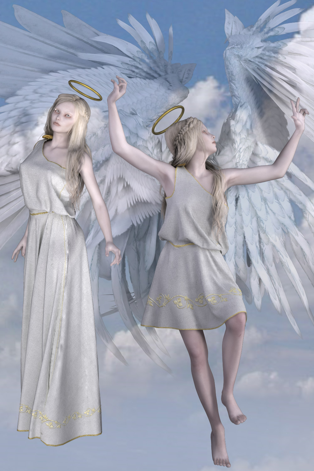 Angel Clothes for V4 3D Figure Assets 3D Models Tipol