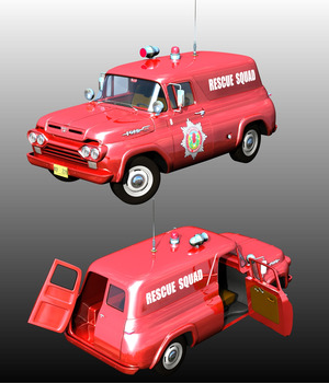 FORD F100 1960 EMERGENCY 3D Models Nationale7
