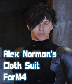 Alex Norman's Cloth Suit for M4 3D Figure Assets JerryJang