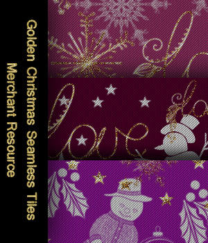 FB  Holidays - Golden Christmas Seamless Tiles / Merchant Resource 2D Graphics Merchant Resources fictionalbookshelf