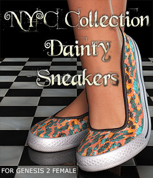 NYC Collection: Dainty-B Sneakers 3D Figure Essentials 3DSublimeProductions