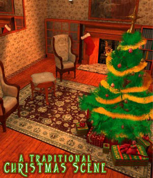 S1M: A Traditional Christmas Scene / Room 3D Models sixus1