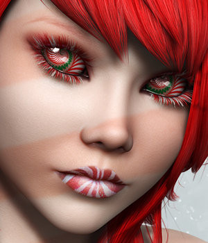 SublimeRebel Holly for V4 3D Figure Assets 3DSublimeProductions