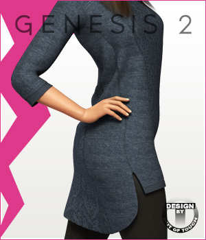Fashion Blizz - Sweater Dress for Genesis 2 Female(s) 3D Figure Essentials outoftouch
