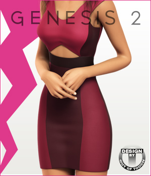 Fashion Blizz - Triangle Dress for Genesis 2 Female(s) 3D Figure Essentials outoftouch